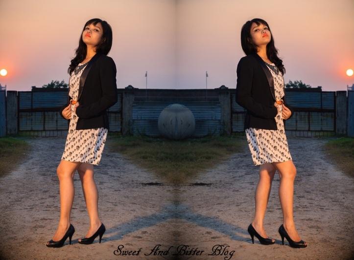 skull-dress Forever 21 Black Jacket