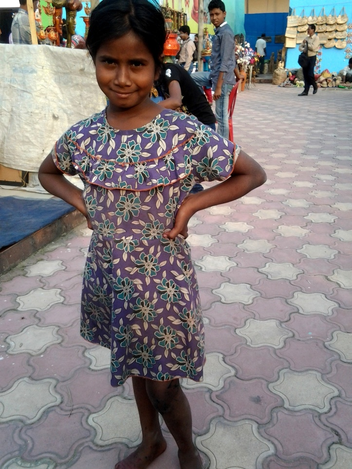 Young Barsha striking a pose