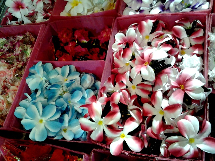 Flower hair clips from Thailand