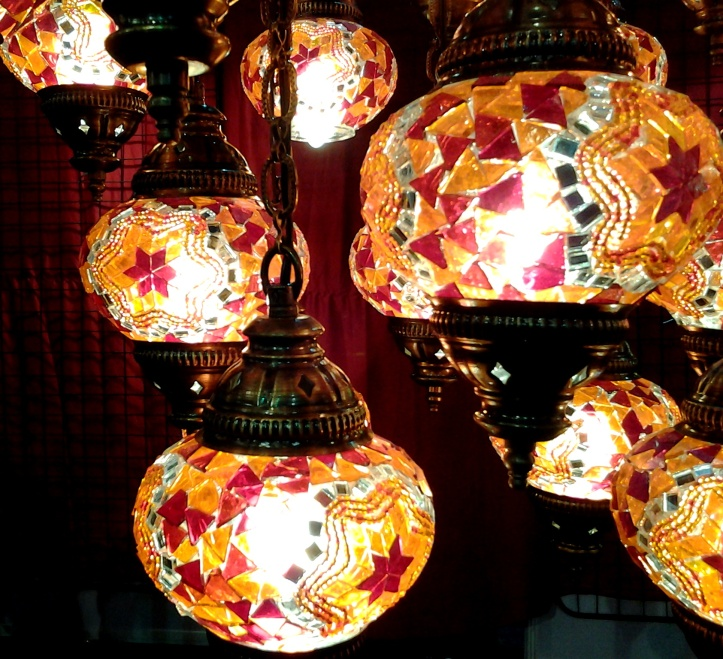 Glass lamps from Turkey