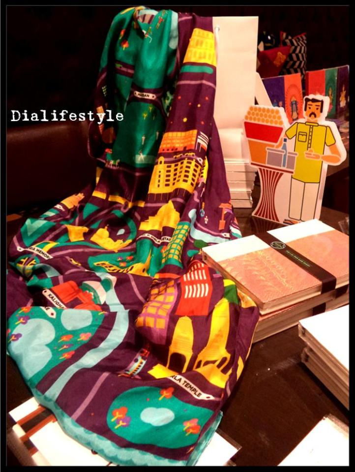 Calcutta Graphic Designed Map Scarf and Laal Paar Diary
