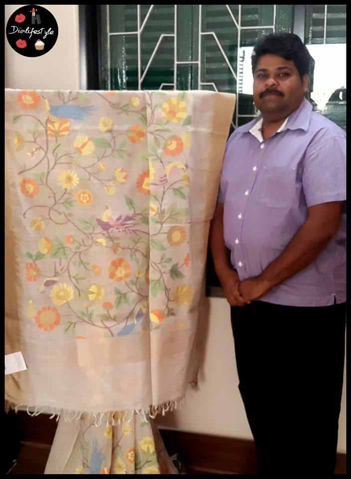 Gaurang with one of his creations in Khadi