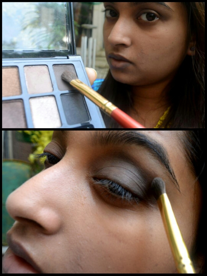Highlight the crease and ends using a darker transition shade