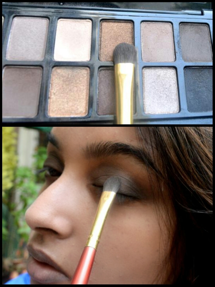 Highlight the centre with a metallic shade
