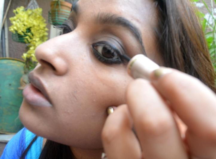 Line the upper lids with liquid liner, close to the lashes